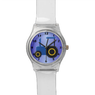 Blue Tractor Wristwatch