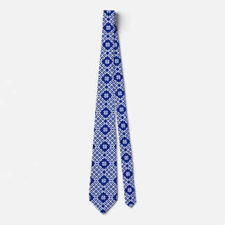Blue traditional Baltic Latvian Pattern Tie