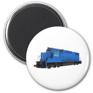Blue Train Engine: 2 Inch Round Magnet