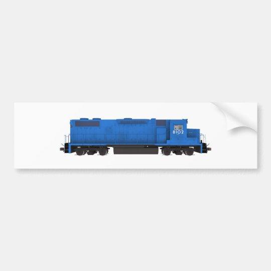 Blue Train Engine: Bumper Sticker