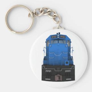 Blue Train Engine: Keychain