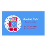 Blue Train Mommy Play Date Card Business Card Templates