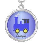 Blue Train Necklaces