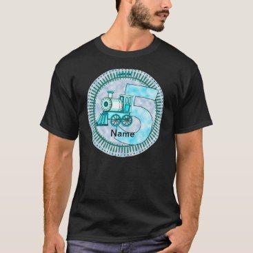 artmuvz Blue Train Number 5 Men's Basic Dark T-Shirt