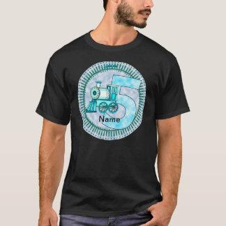 Blue Train Number 5 T-Shirt