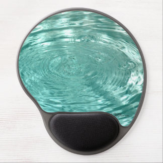 Blue tranquil water drops ripples Gel Mousepad
