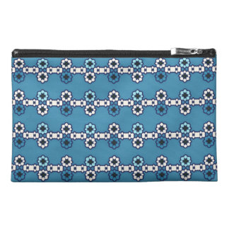 "Blue travelling case ""flowered Collars """