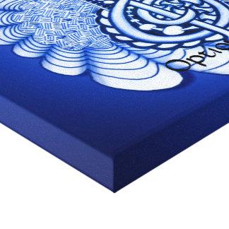 Blue Treble Clef Music Art Canvas Print