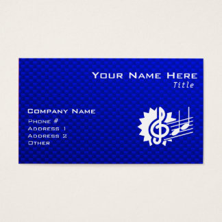 Blue Treble Clef; Music Notes Business Card