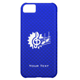 Blue Treble Clef; Music Notes Case For iPhone 5C