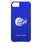 Blue Treble Clef; Music Notes iPhone 5C Cover
