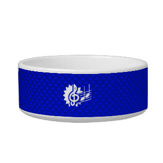 Blue Treble Clef; Music Notes Pet Water Bowl