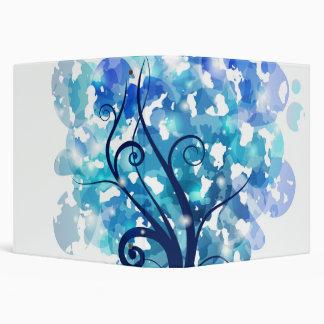 Blue Tree 3 Ring Binder