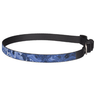 Blue Tree Abstract Art Pet Collar