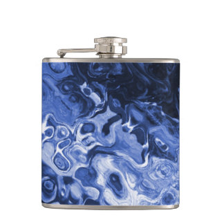 Blue Tree Abstract Flask