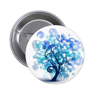 Blue Tree 2 Inch Round Button