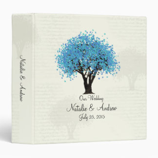 Blue Tree Dancing Blooms Binder