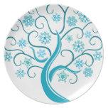 Blue Tree Dinner Plates