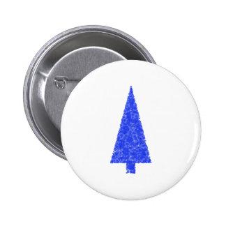 Blue Tree. Fir Evergreen Christmas Tree. Buttons