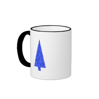 Blue Tree. Fir Evergreen Christmas Tree. Mug