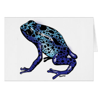 Blue Tree Frog Card