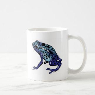 Blue Tree Frog Classic White Coffee Mug