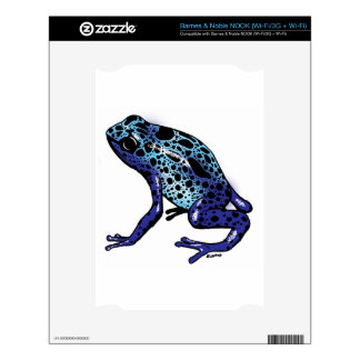 Blue Tree Frog Decals For The NOOK
