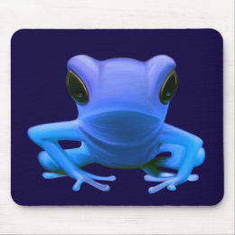 Blue Tree Frog Mouse Pad
