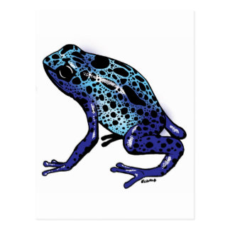 Blue Tree Frog Postcard