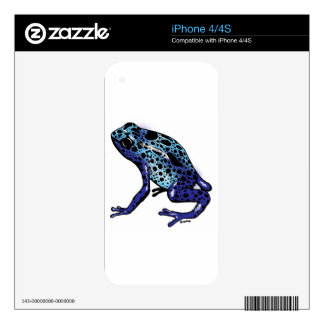 Blue Tree Frog Skin For The iPhone 4