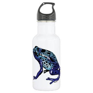 Blue Tree Frog Stainless Steel Water Bottle