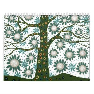 Blue Tree in Spring 2 Calendar