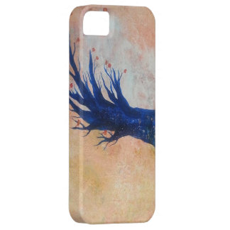 Blue tree in the wind iPhone / iPad case