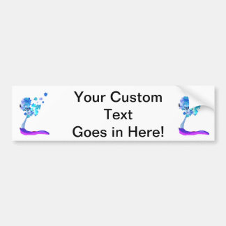 blue tree leaves blowing earth design.png bumper sticker