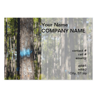 blue tree marking paint business card templates