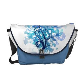 Blue Tree Messenger Bag