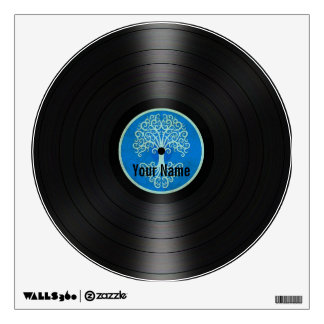 Blue Tree of Life Personalized Vinyl Record Room Sticker