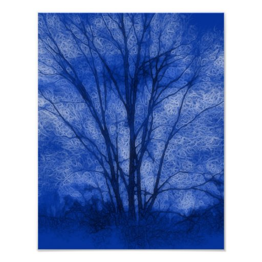 Blue Tree Posters