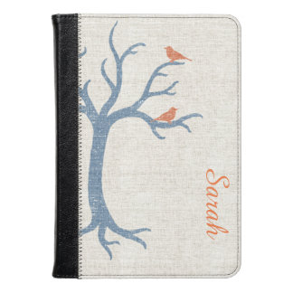 Blue Tree with Birds Kindle Fire HD Folio Kindle Case