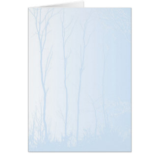 Blue Trees Card