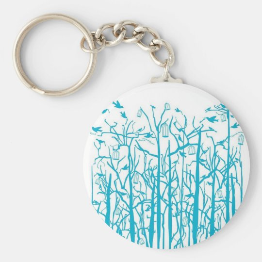 Blue Trees Keychain