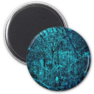 Blue Trees Magnet