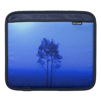 Blue Trees Sunrise Nature Photo Art iPad Sleeve
