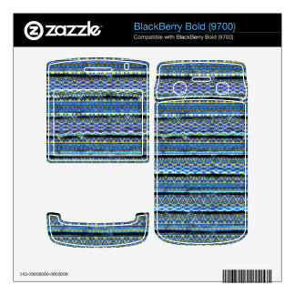 Blue trendy abstract pattern BlackBerry bold skins