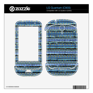 Blue trendy abstract pattern decal for the LG quantum