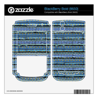 Blue trendy abstract pattern decal for BlackBerry bold