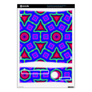 Blue Trendy abstract pattern Xbox 360 S Skins