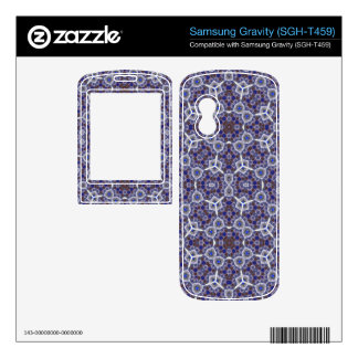 Blue Trendy modern Pattern Samsung Gravity Decal