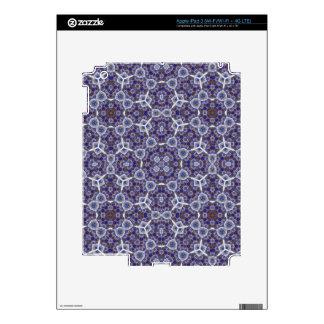Blue Trendy modern Pattern Skin For iPad 3