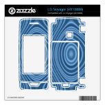 blue trendy pattern decal for the LG voyager